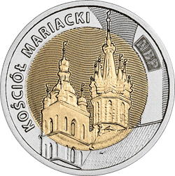 5 zł 2020 Odkryj Polskę – Kościół Mariacki - monety