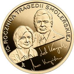 100 zł 2020 10. rocznica tragedii smoleńskiej