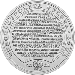 50 zł 2020 Skarby Stanisława Augusta - Zygmunt III Waza