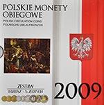 Polskie Monety Obiegowe 2009 - Zestaw 1 grosz - 5 złotych