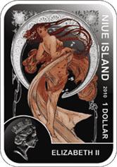 Niue - 2010, 1 Dolar - Malarze świata - Alfons Mucha