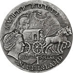 Niue - 2010, 1 dolar - Szlak Bursztynowy (Amber Route) - Szombathely - Srebro