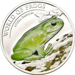 Palau - 2013, 2 dolary - Świat Żab - Litoria Caerulea - monety