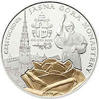 Palau - 2012, 2 dolary - Klasztor Jasna Góra - Złota Róża - Jan Paweł II