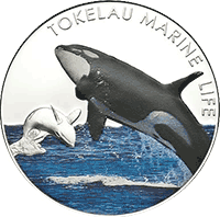 Tokelau - 2012, 5 dolarów - Orka - Marine Life