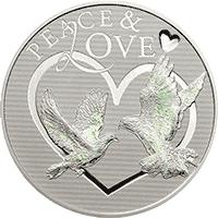 Tokelau - 2012, 5 dolarów - Miłość i pokój - hologram