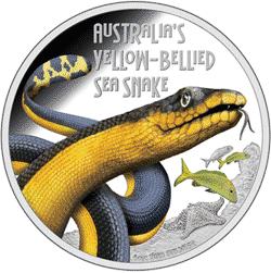 Tuvalu - 2013, 1 dolar - Wąż Morski - Sea Snake - monety