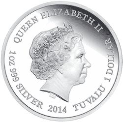 Tuvalu - 2013, 1 dolar - Wymierające gatunki - Żółw zielony