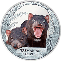 Tuvalu - 2013, 1 dolar - Wymierające gatunki - Diabeł Tasmański - monety