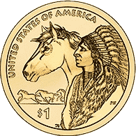 1 dolar 2012 - Native American - Trade Routes in the 17th Century (D)