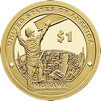 1 dolar 2015 - Native American -  Mohawk Iron Workers (D)