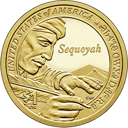 1 dolar 2017 - Native American -  Sequoyah (D)