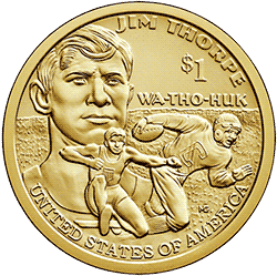 1 dolar 2018 - Native American -  Jim Thorpe (D)