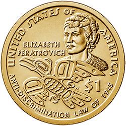 1 dolar 2020 - Native American - Elizabeth Peratrovich (P)