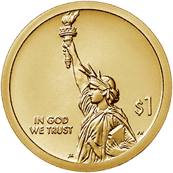 1 dolar 2019 - American Innovation - Trustees' Garden - Georgia $1 Coin (D)