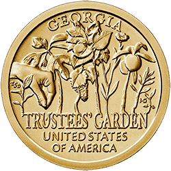1 dolar 2019 - American Innovation - Trustees' Garden - Georgia $1 Coin (D) - monety