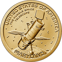 1 dolar 2020 - American Innovation - Hubble Space Telescope - Maryland $1 Coin (D)