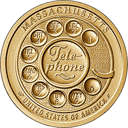 1 dolar 2020 - American Innovation - Telephone - Massachusetts $1 Coin (P)