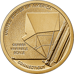 1 dolar 2020 - American Innovation - Gerber variable scale - Connecticut $1 Coin (D)