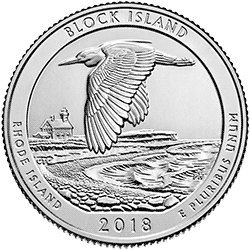 25 Centów 2018 - Block Island National Wildlife Refuge - Rhode Island (P)