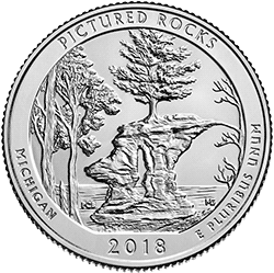 25 Centów 2018 - Pictured Rocks National Lakeshore - Michigan (P) - monety