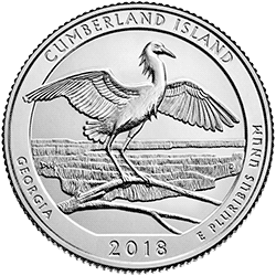 25 Centów 2018 - Cumberland Island National Seashore - Georgia (P)