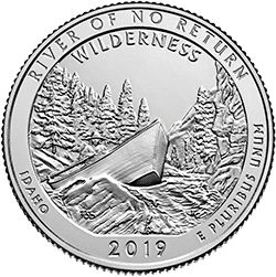 25 Centów 2019 - Frank Church River of No Return Wilderness - Idaho (P)
