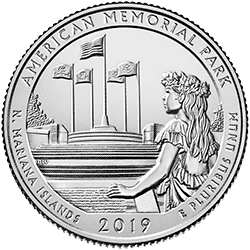 25 Centów 2019 - American Memorial Park - Northern Mariana Islands (P)