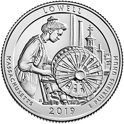 25 Centów 2019 - Lowell National Historical Park - Massachusetts (P)