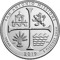 25 Centów 2019 - San Antonio Missions Park - Texas (D)