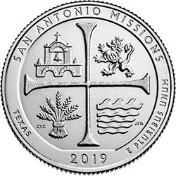 25 Centów 2019 - San Antonio Missions Park - Texas (D) - monety
