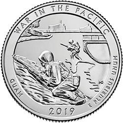 25 Centów 2019 - War in the Pacific National Park - Guam (D)