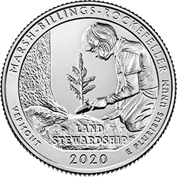 25 Centów 2020 - Marsh-Billings - Vermont (P) - monety