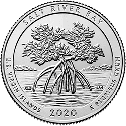 25 Centów 2020 - Salt River Bay - U.S. Virgin Islands (D)