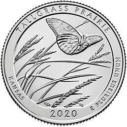 25 Centów 2020 - Tallgrass Prairie National Preserve - Kansas (P) - monety
