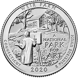 25 Centów 2020 - Weir Farm National Historic Site - Connecticut (D)