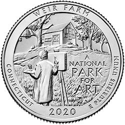 25 Centów 2020 - Weir Farm National Historic Site - Connecticut (D) - monety