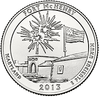 25 Centów 2013 - Fort McHenry National Monument and Historic Shrine - Maryland (D) - monety