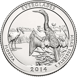 25 Centów 2014 - The Everglades National Park - Floryda (D)