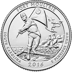 25 Centów 2016 - Fort Moultrie - North Carolina (P)