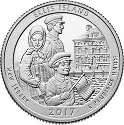 25 Centów 2017 - Ellis Island - New Jersey (D) - monety