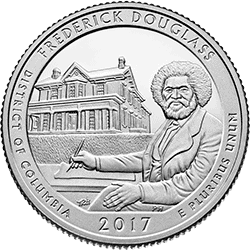 25 Centów 2017 - Frederick Douglass National Historic Site - District of Columbia (D)