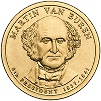1 dolar 2008 - Martin Van Buren (D)