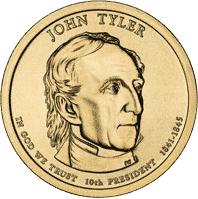 1 dolar 2009 - John Tyler (D) - monety