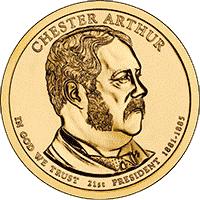 1 dolar 2012 - Chester Arthur (D)