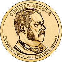 1 dolar 2012 - Chester Arthur (P)