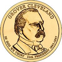 1 dolar 2012 - Grover Cleveland 2 (D)