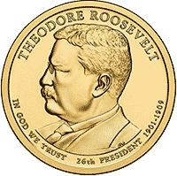 1 dolar 2013 - Theodore Roosevelt (D) - monety