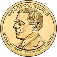 1 dolar 2013 - Woodrow Wilson (D) - monety