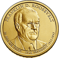 1 dolar 2014 - Franklin D. Roosevelt (D)